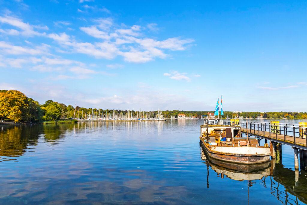 Wannasee, a popular lake in Berlin, Germany.