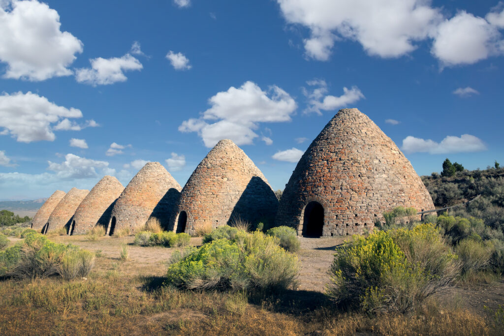 Ward Charcoal Ovens State Park in Nevada.