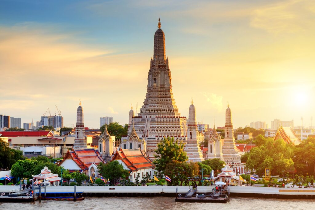 Wat Arun Temple in Thailand.
