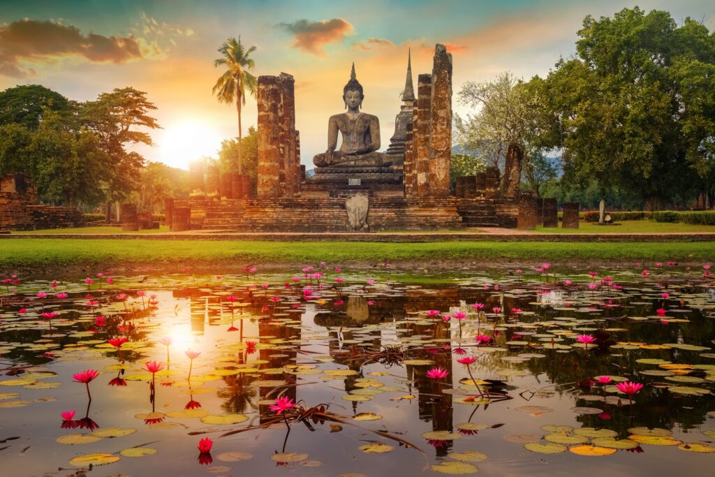 Wat Mahathat Temple in Thailand.