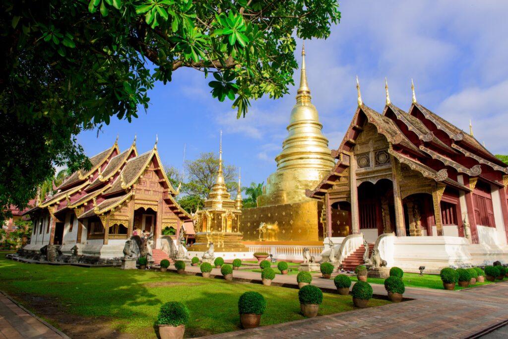 Wat Phra Singh temple in Chiang Mai.