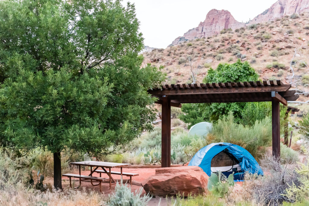 Watchman Campground in Zion National Park.