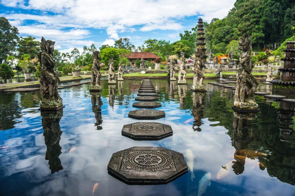 Water Palace of Tirta Gangga in Bali.