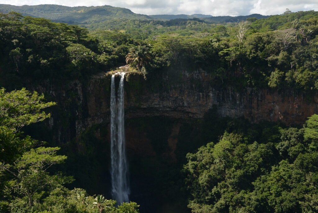 Waterfall, Black River Gorges National Park.