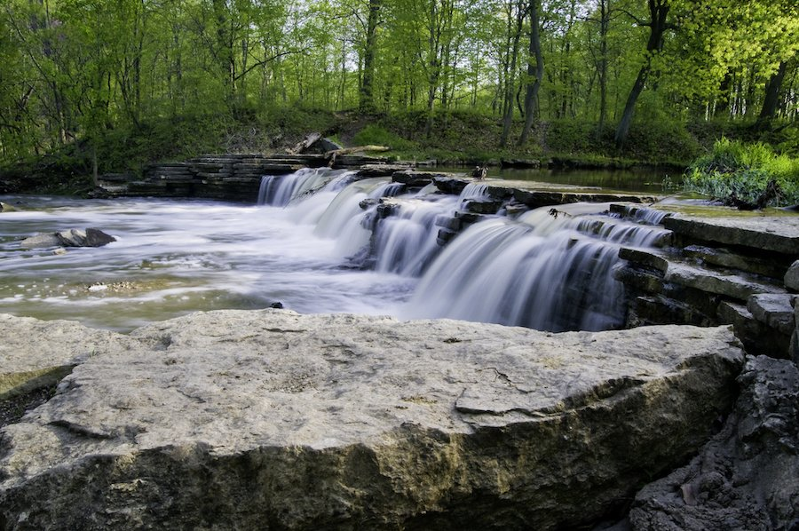 Waterfall Glen Forest Preserve in Willowbrook, Illinois.
