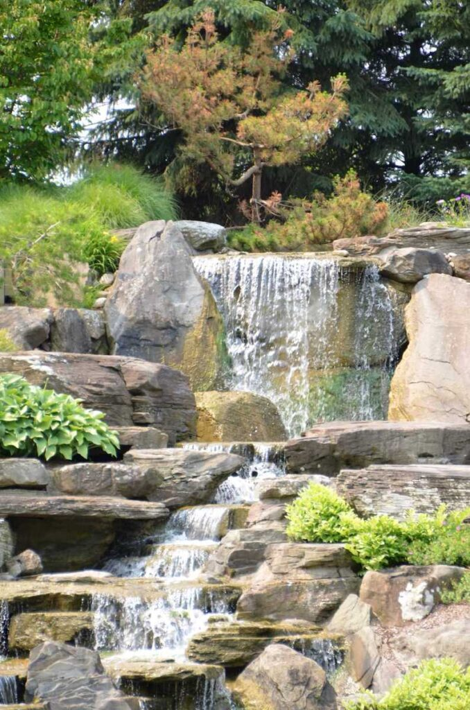 Waterfall in the Japanese Garden.