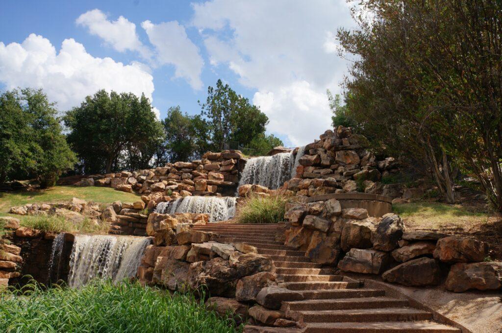 Waterfalls in Wichita Falls, Texas.