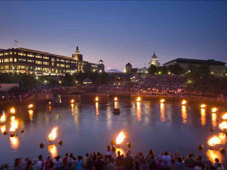 WaterFire on the rivers of downtown Providence