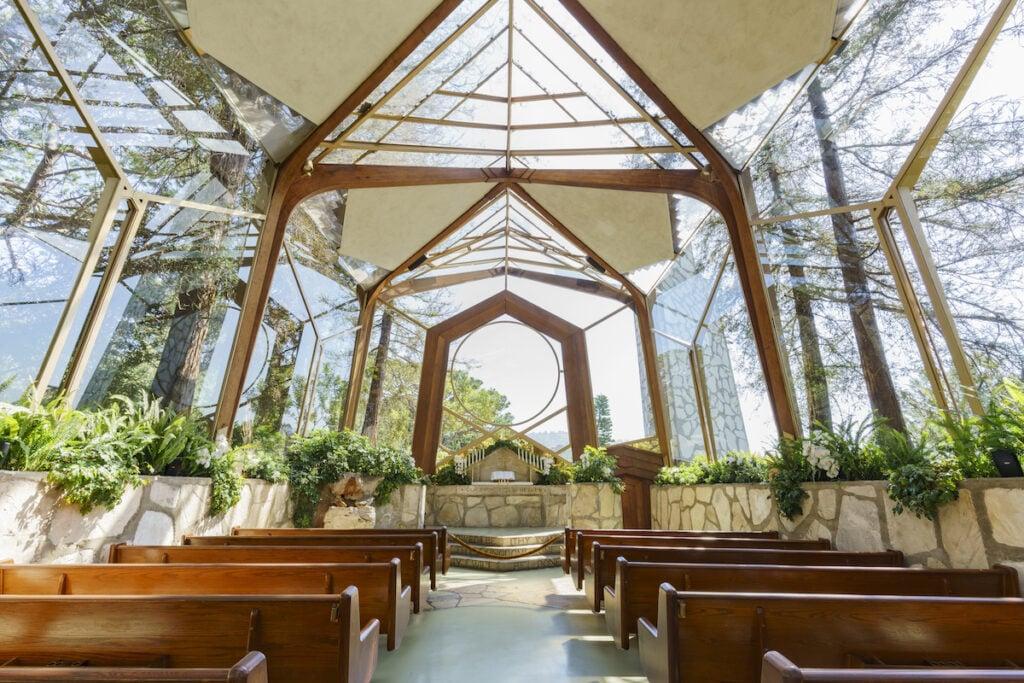 Wayfarers Chapel in Rancho Palos Verdes, California.
