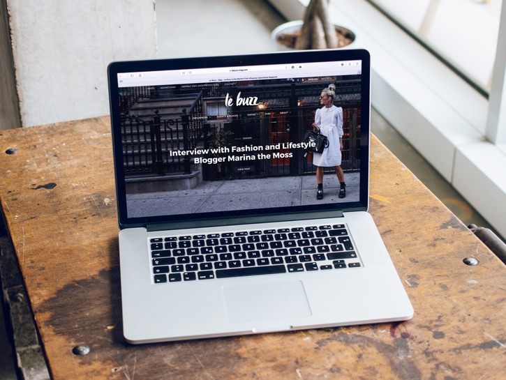 Website seen on laptop