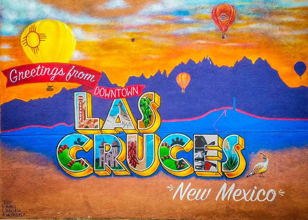 Welcome mural in Las Cruces, New Mexico.