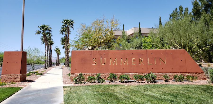 Welcome sign in Summerlin, Nevada.