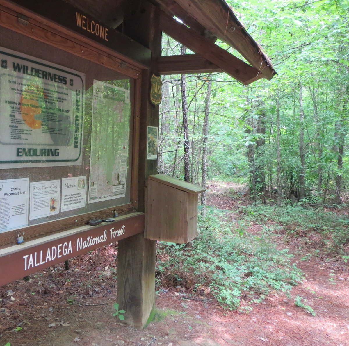 Welcome sign, Talladega National Forest.
