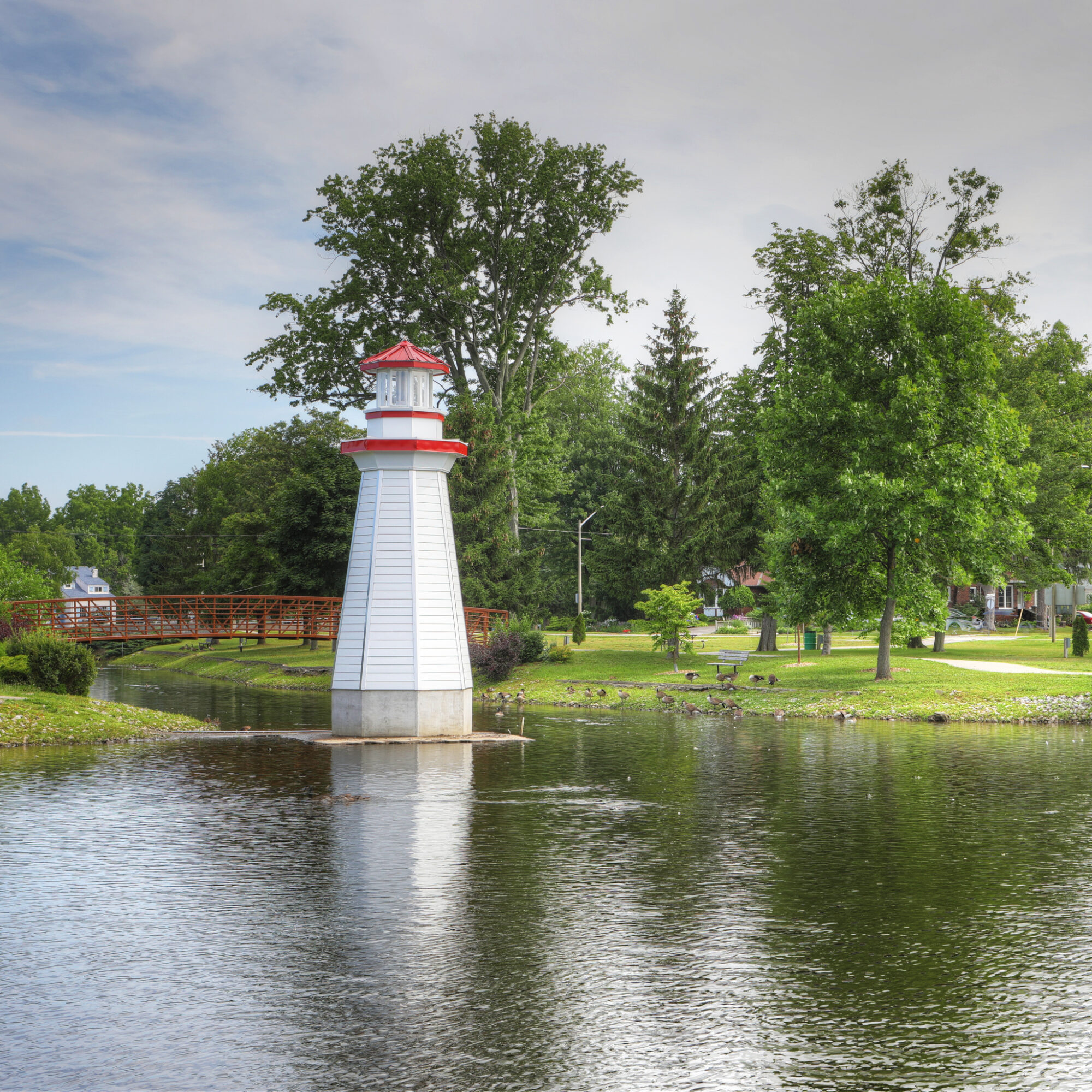 Wellington Park in the quaint town of Simcoe, Ontario.