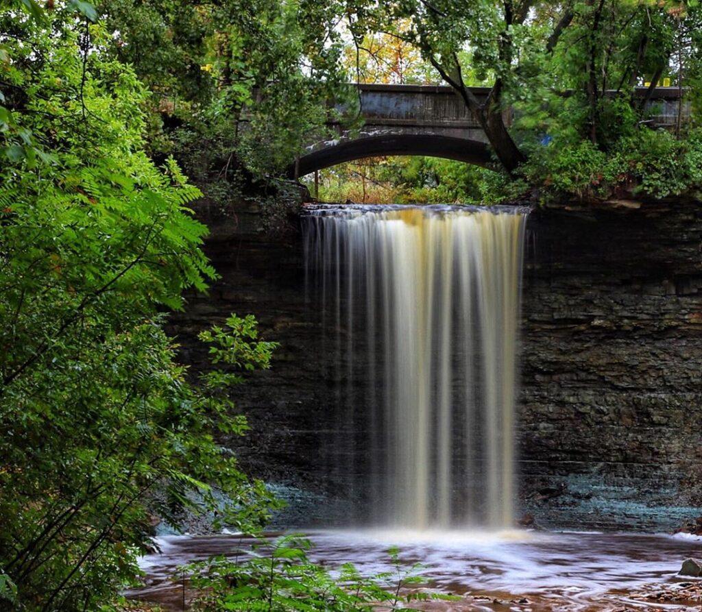Wequiock Falls in Green Bay.