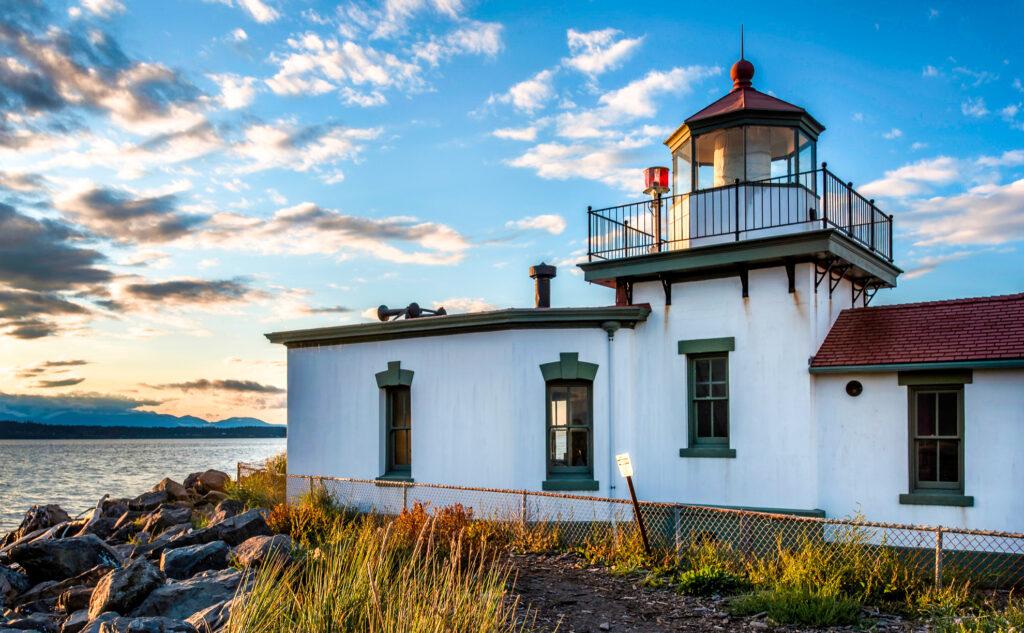 West Point Lighthouse in Seattle, Washington.