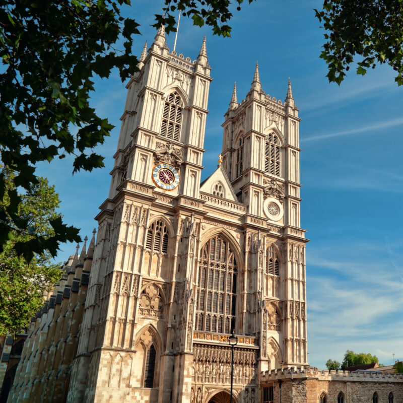 Westminster Abbey in London, England.