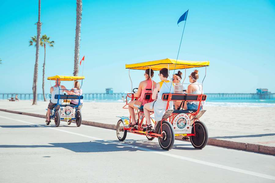Wheel Fun bike rentals in Oceanside.