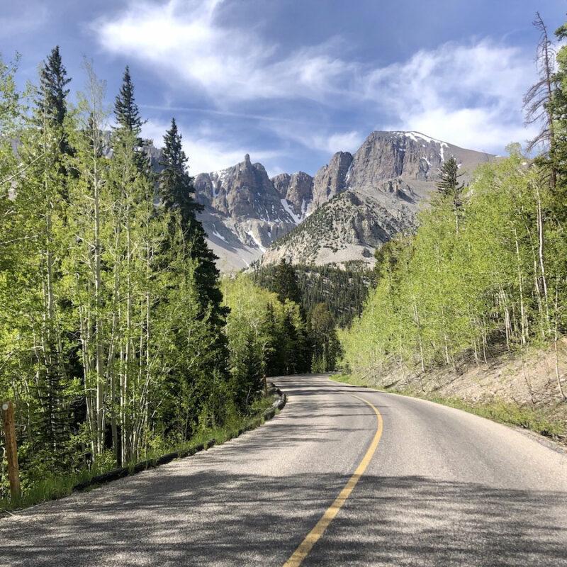 Wheeler Peak Scenic Drive through Great Basin State Park in Nevada.