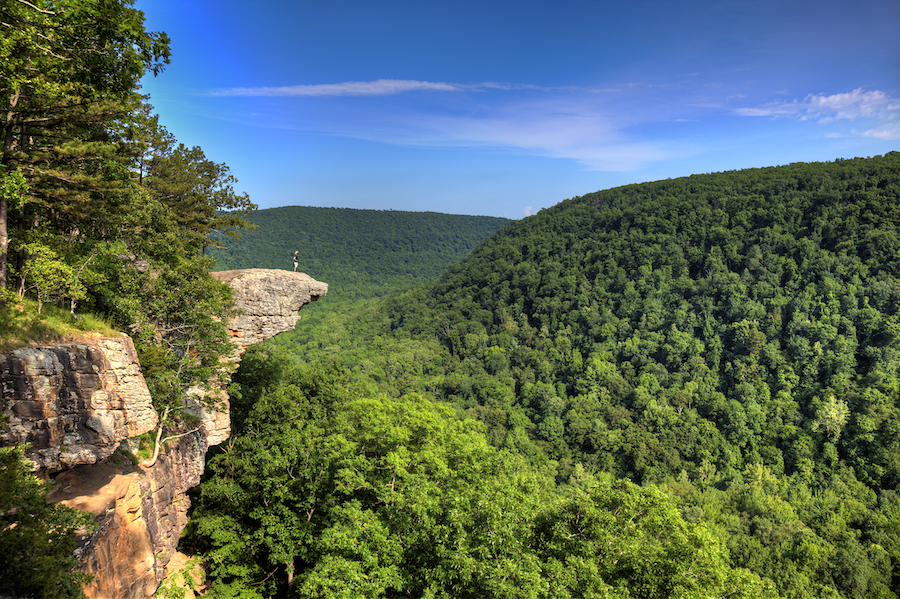 Whitaker Point in Ozark National Forest.