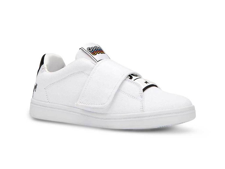 white GOATS sneakers canvas