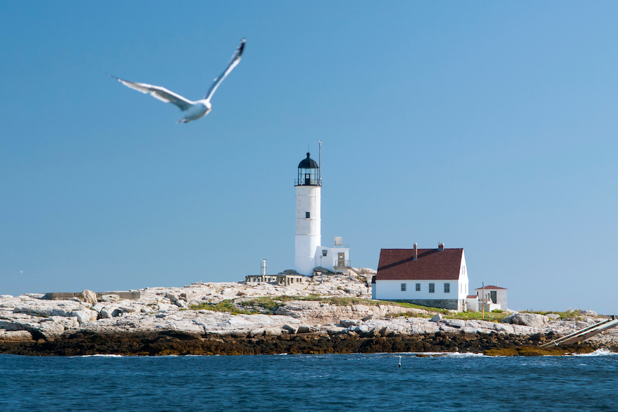 White Island Lighthouse on the Isles of Shoals.