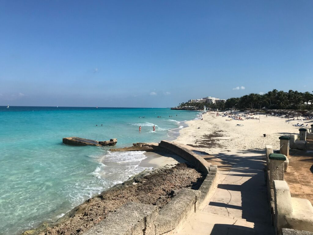 White sand beach in Veradero.
