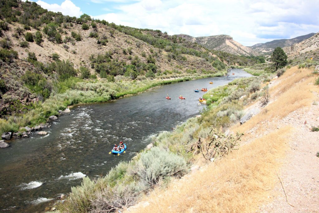 White water rafting near Taos, New Mexico.
