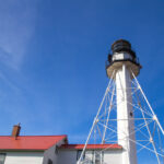 Whitefish Point Light Station in Chippewa County, Michigan.