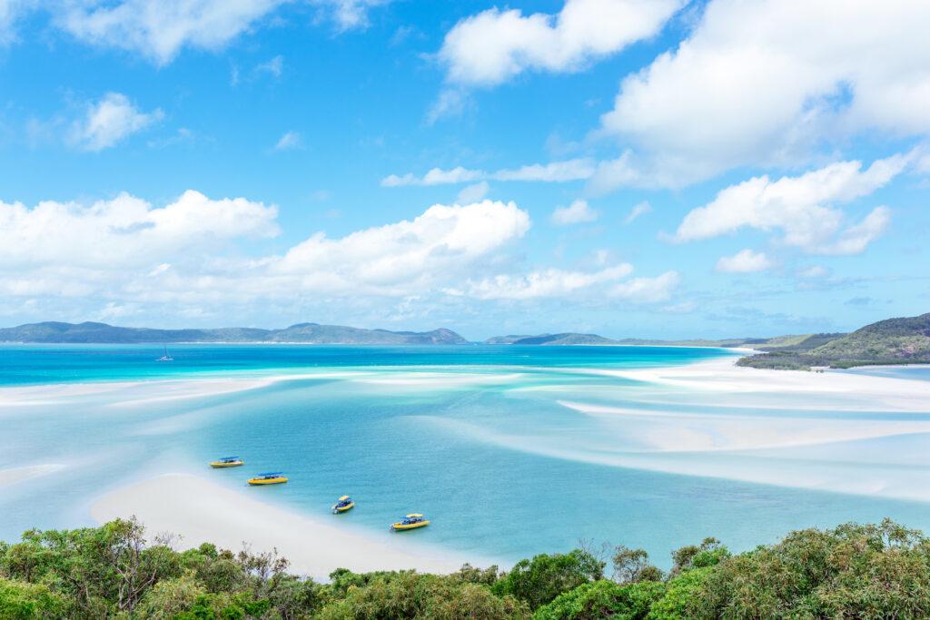 Whitehaven Beach in Australia's Whitsunday Islands.