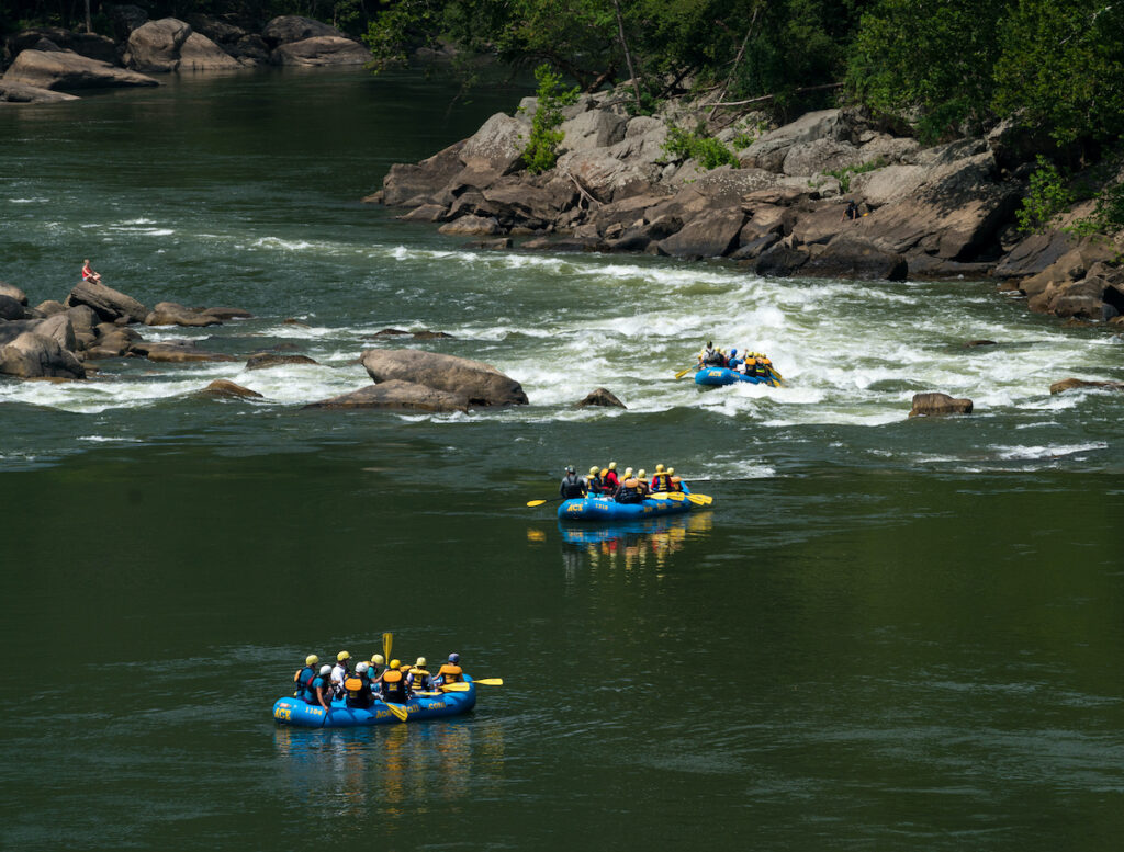 Whitewater rafting in New River Gorge National Park.