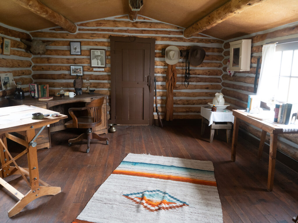 Will James' Studio at Big Horn County Historical Museum.