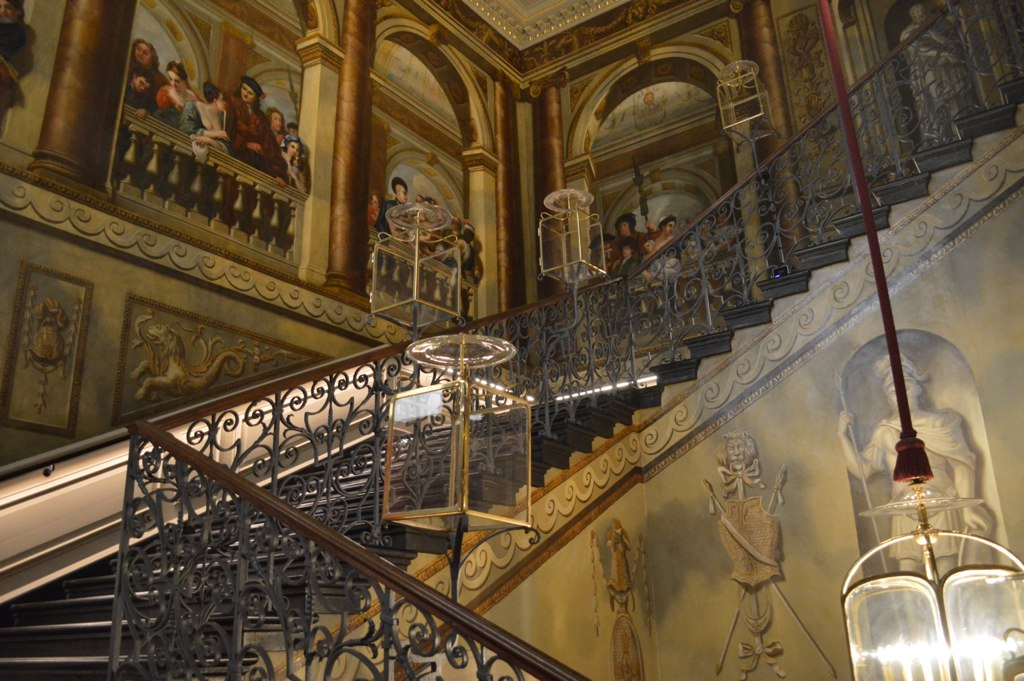 William Kent's work along the King's Staircase inside Kensington Palace.