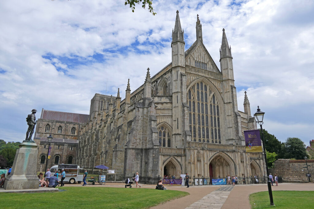 Winchester Cathedral in England.