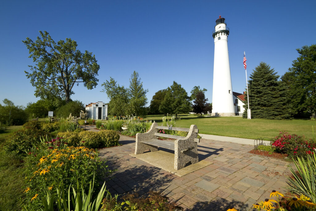 Wind Point Lighthouse in Racine, Wisconsin.