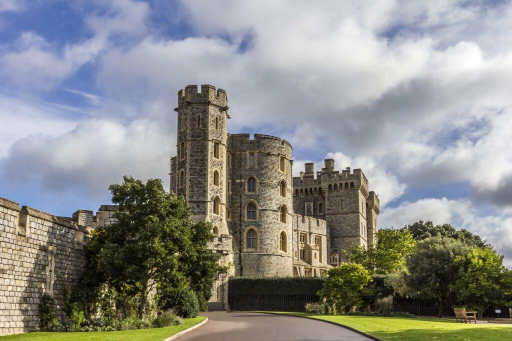 Windsor Castle near London.