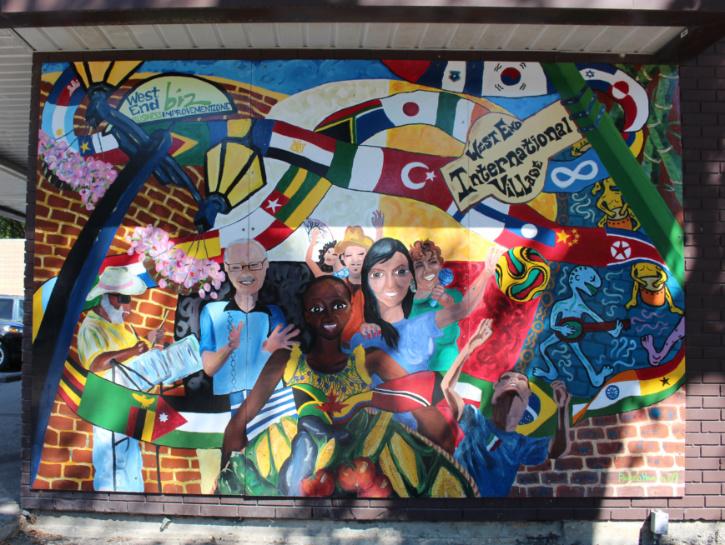 Winnipeg West End Mural