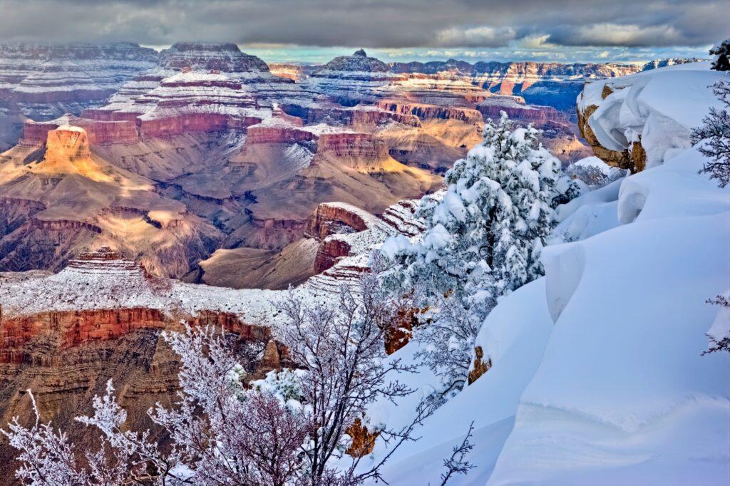 Winter at Grand Canyon National Park in Arizona.
