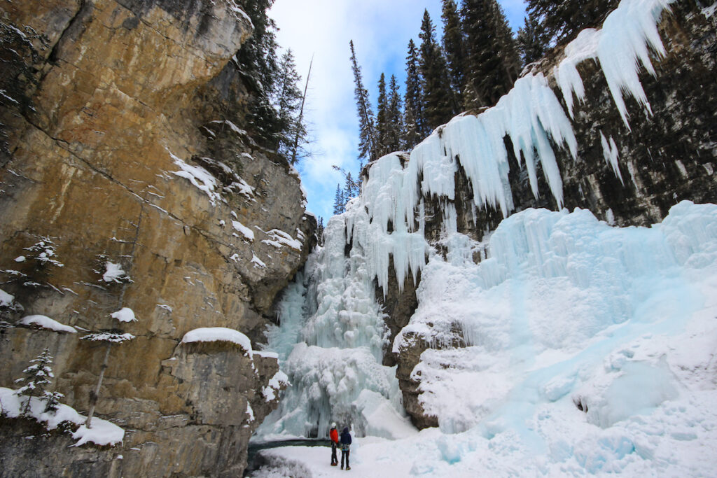 Winter at Johnston Canyon in Banff National Park.