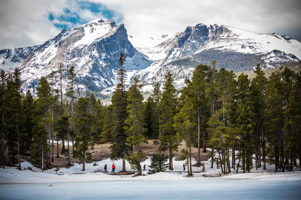 Winter at Rocky Mountain National Park in Colorado.