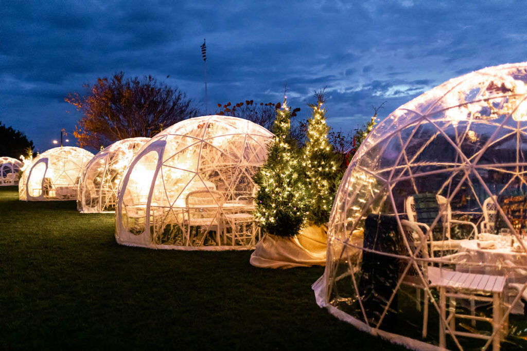 Winter Igloos at Congress Hall in Cape May, New Jersey.