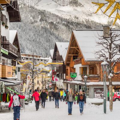 Winter in a quaint town