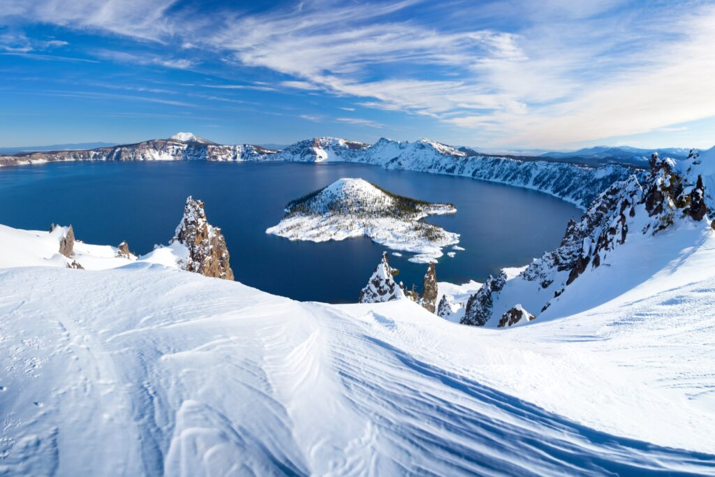 Winter time at Crater Lake.