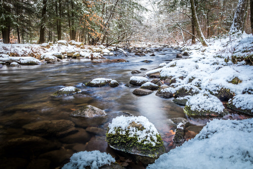 Winter time at Stokes State Forest in New Jersey.