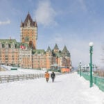 Winter time at the Chateau Frontenac in Quebec City.