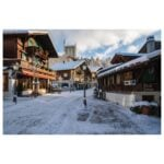 Winter view of Gstaad Promenade.