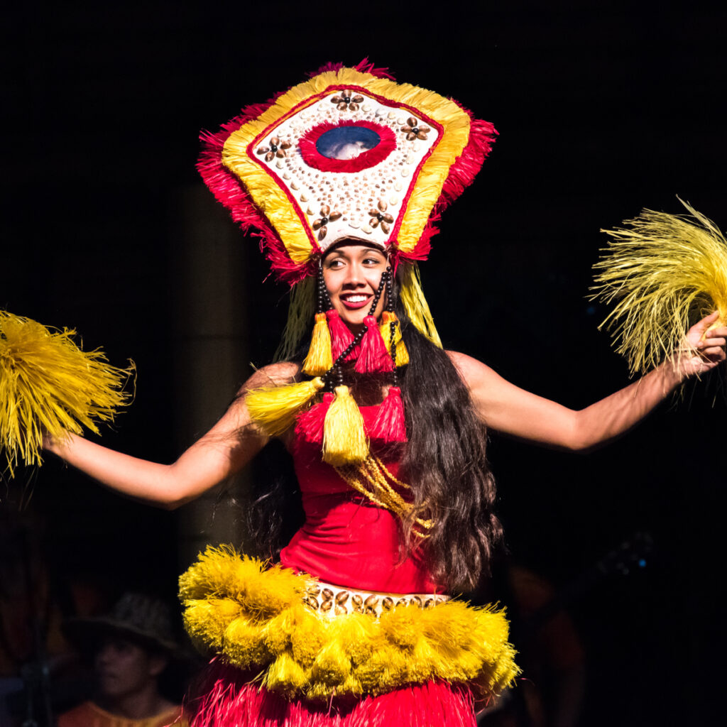 Woman luau performer at the Polynesian Cultural Center.