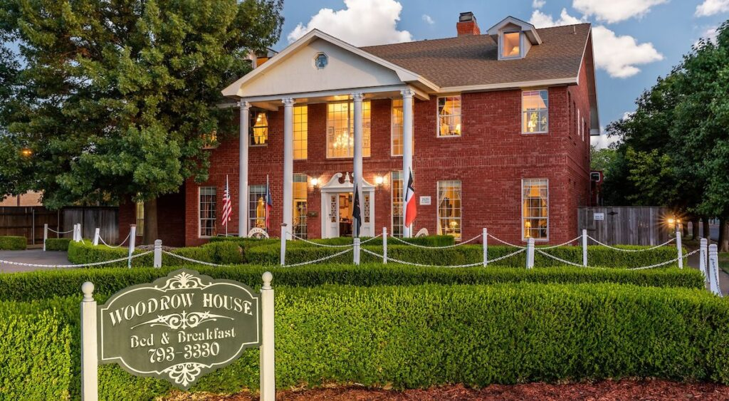 Woodrow House Bed and Breakfast in Lubbock, Texas.
