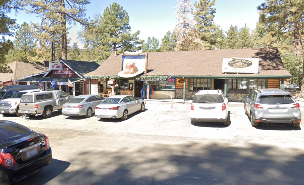 Wooley's and other shops in Idyllwild, Califonria.