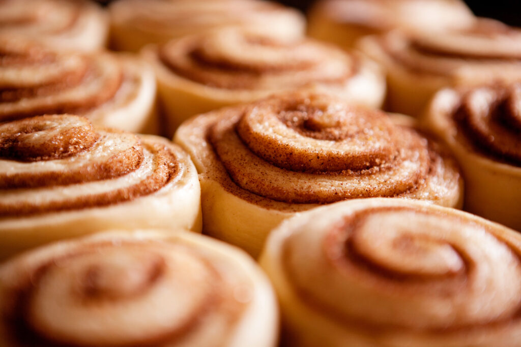 World-famous cinnamon rolls from Denny's Diner.